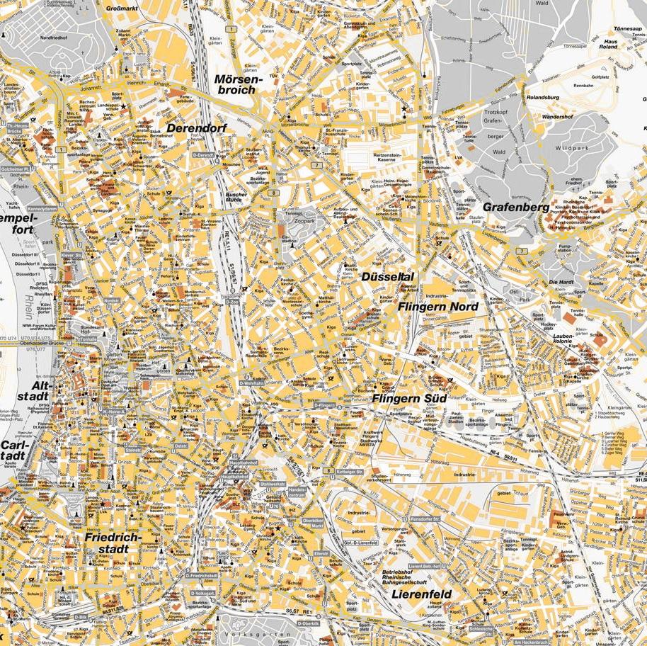 düsseldorf stadtteile karte düsseldorf stadtteile karte | StadtPlan