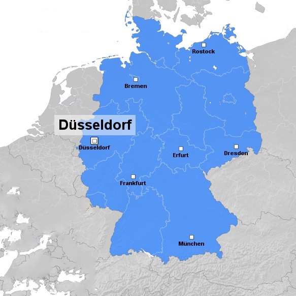 Düsseldorf Karte.Düsseldorf Stadtteile Stadtplan