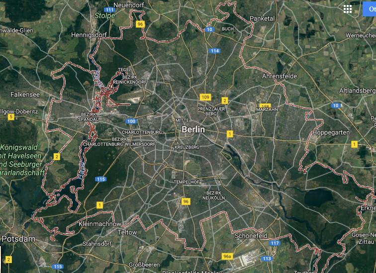 Berlin Satellitenbild 2