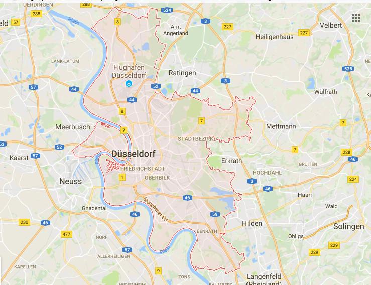 Düsseldorf Karte.Düsseldorf Plz Karte Stadtplan