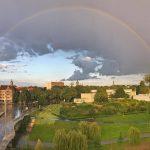 hannover häuser und regenbogen