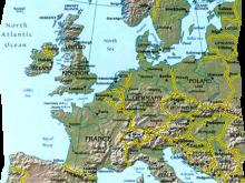 Karte Europäische Grenzen