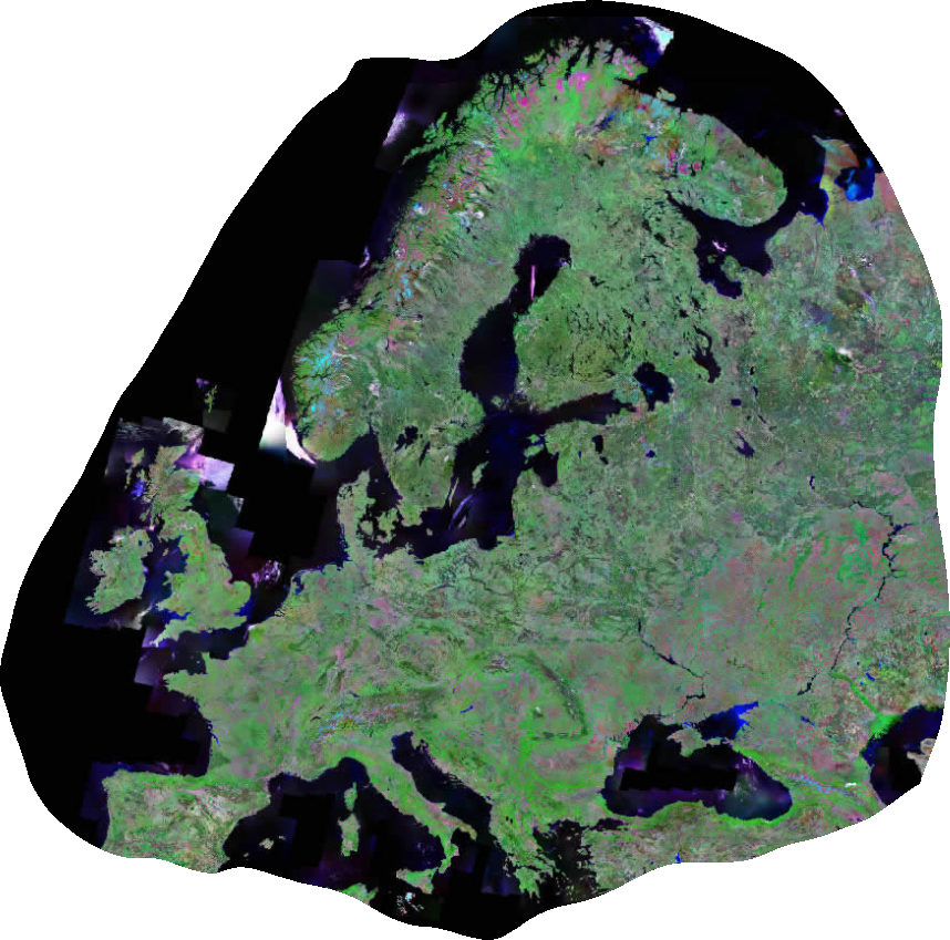 Europakarte Satellitenbild