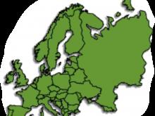 Leere Karte von Europa