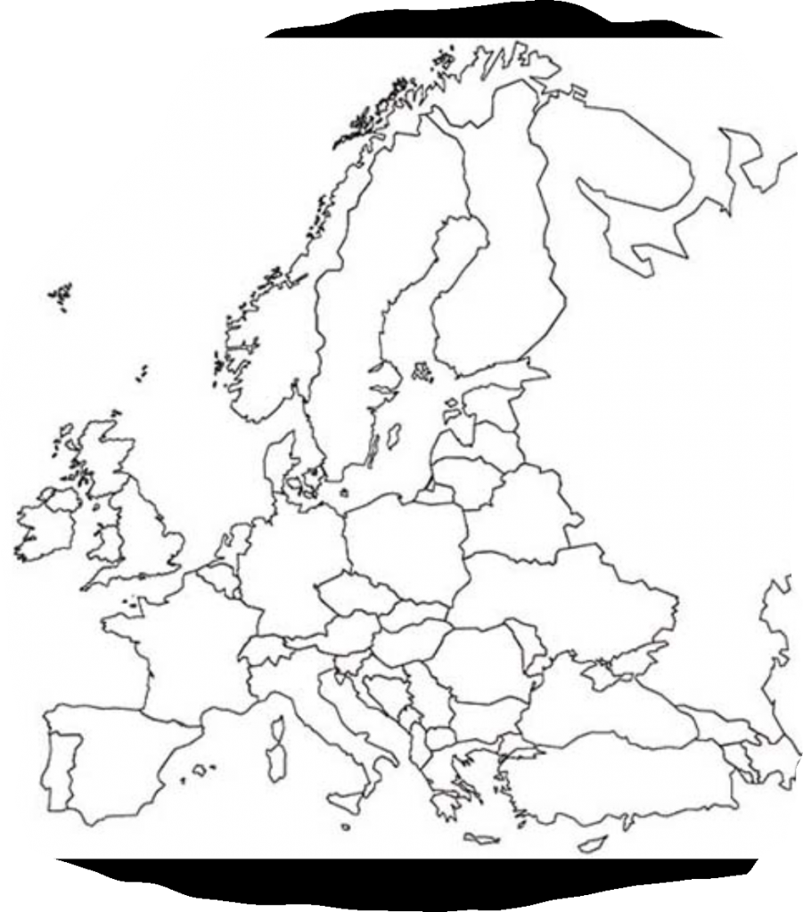 Europakarte Leer - Die Länder Europas - Europakarte Leer Zum Lernen