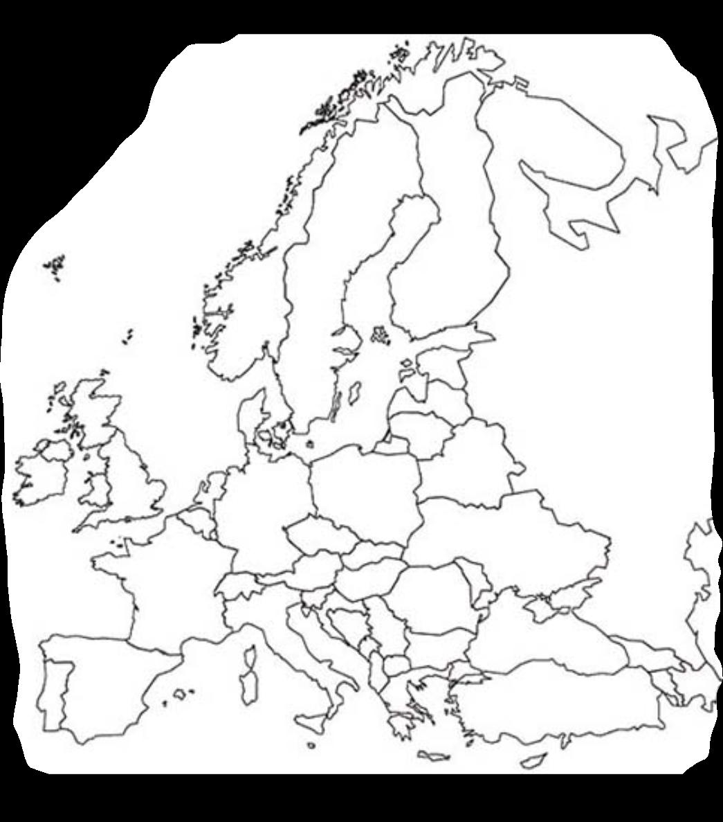 europakarte leer Europakarte Leer   Die Länder Europas   Europakarte Leer Zum Lernen europakarte leer
