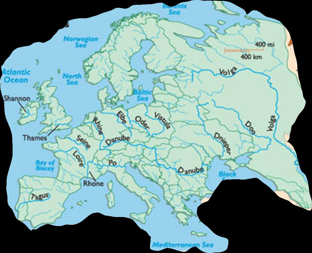 flüsse europa karte Europakarte Flüsse   Flüsse Europas Lernen   Fflüsse Europas  flüsse europa karte