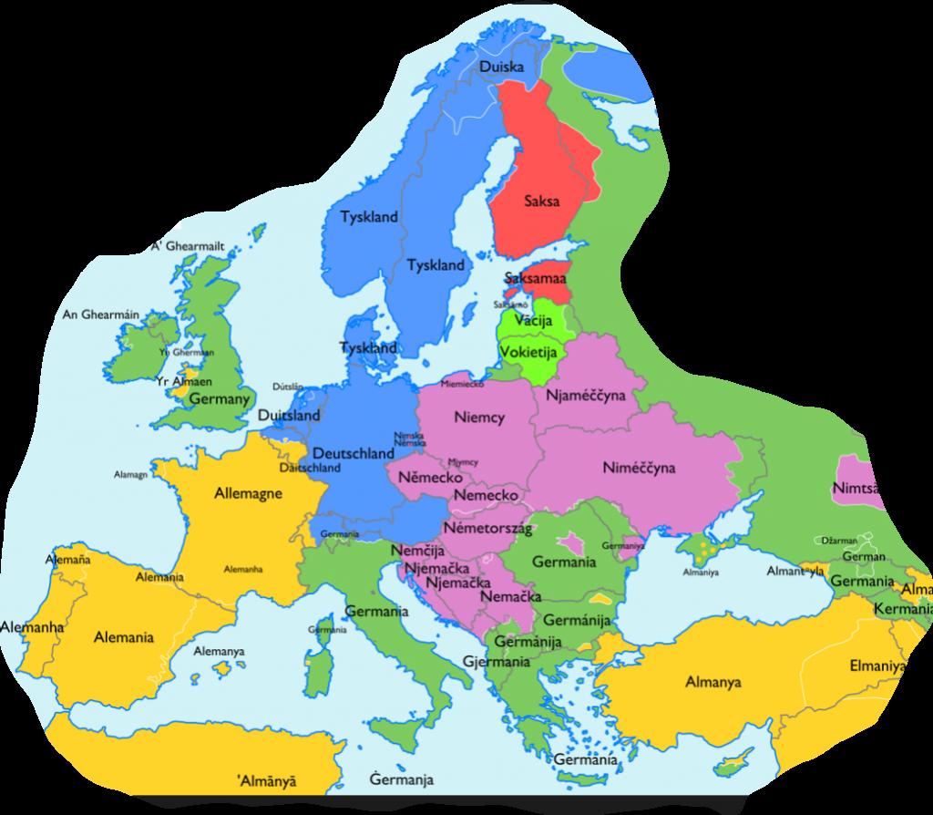 Europakarte mit Ländern - Europakarte Mit Städten