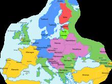Europakarte mit Ländern