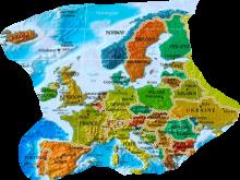 Europa Karte und Hauptstädte