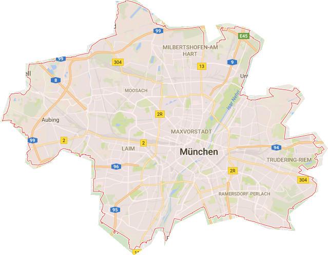 Munchen Stadtplan Stadtteile Stadtplan