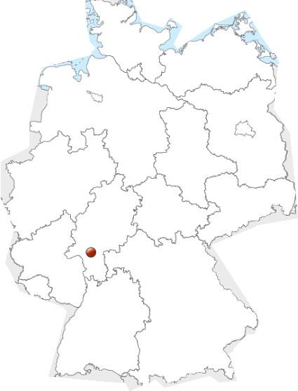 frankfurt karte deutschland leer