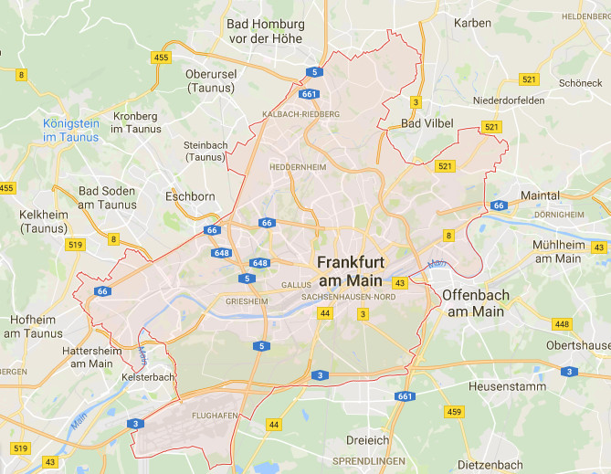 landkarte frankfurt main